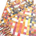 Hermès Hermes logo ribbon orange multi color scarf Image 2