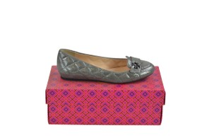 Tory Burch 8 Slip On Quilted Loafer Pewter Flats