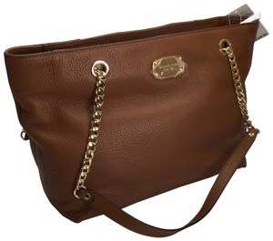 MICHAEL KORS Brown Leather Tote in Luggage