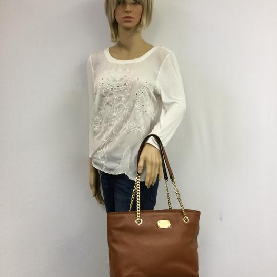 MICHAEL KORS Brown Leather Tote in Luggage Image 10