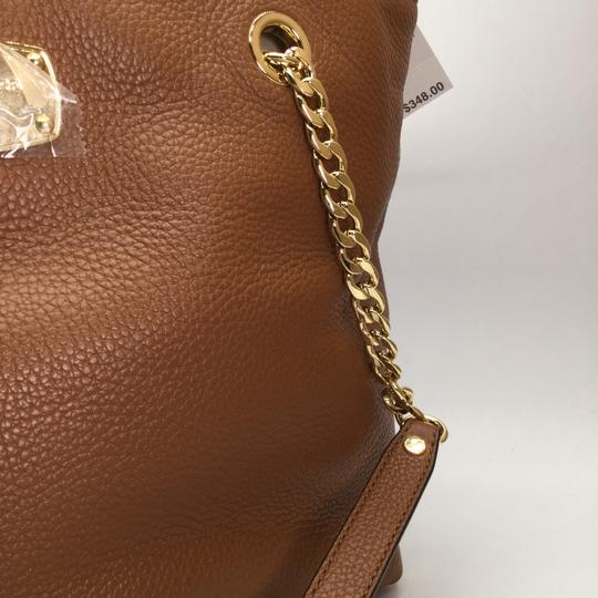 MICHAEL KORS Brown Leather Tote in Luggage Image 3