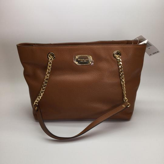 MICHAEL KORS Brown Leather Tote in Luggage Image 4