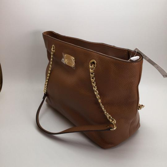 MICHAEL KORS Brown Leather Tote in Luggage Image 5