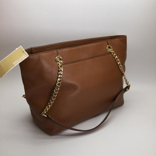 MICHAEL KORS Brown Leather Tote in Luggage Image 7