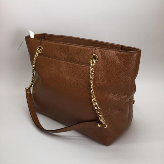MICHAEL KORS Brown Leather Tote in Luggage Image 8