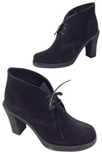 La Canadienne Platform Heel Dress Suede Black Boots