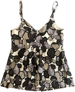 Lucca Exclusive Sleeveless Adjustable Straps Black Top Multicolor