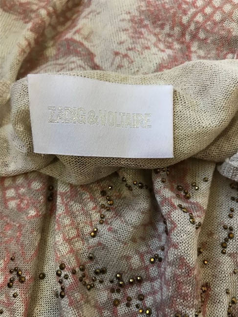 Zadig & Voltaire Top Tan and Pink Image 4