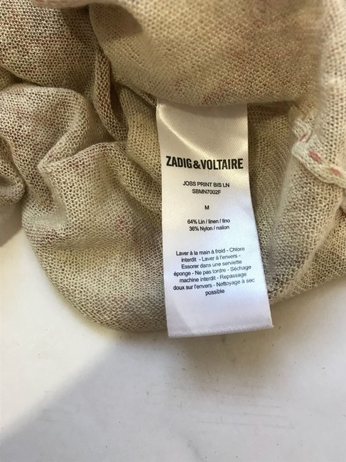 Zadig & Voltaire Top Tan and Pink Image 5