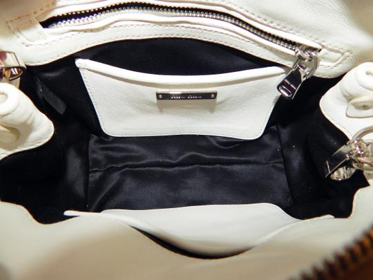 Miu Miu Matelasse Bauletto Leather Tote in White Image 7
