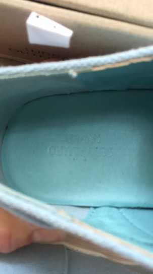 Urban Outfitters Canvas Lace Up Light blue and white Platforms Image 2