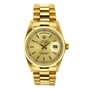 Rolex Vintage Rolex Day Date Yellow Gold Index Dial 36mm
