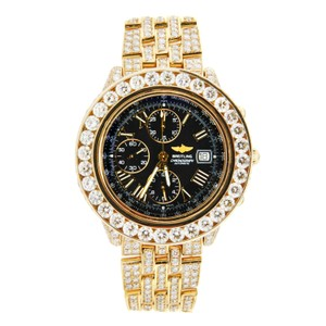 Breitling Breitling Windrider Crosswind 18K Yellow Gold Iced Out 44mm