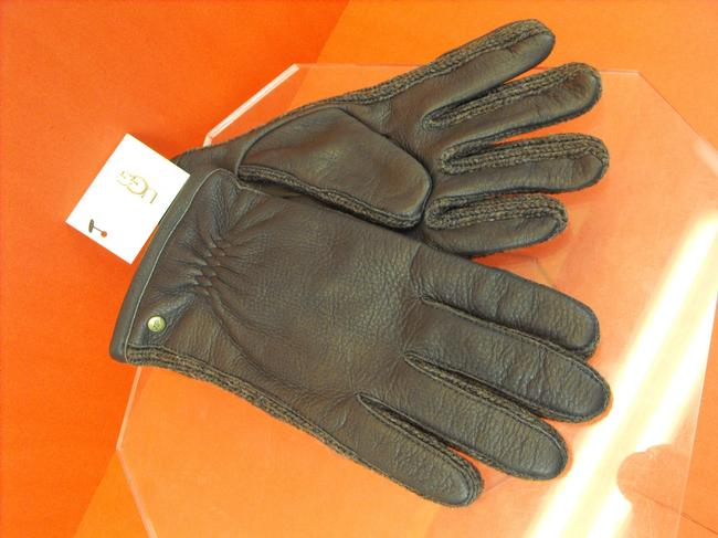 Item - Brown L Deer Leather Wool Buckle Sidewall Chocolate Winter Gloves Men's Jewelry/Accessory