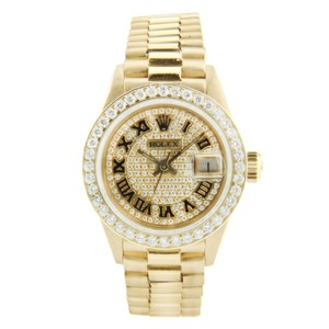 Rolex Rolex Datejust Ladies President Yellow Gold with Diamonds 26mm