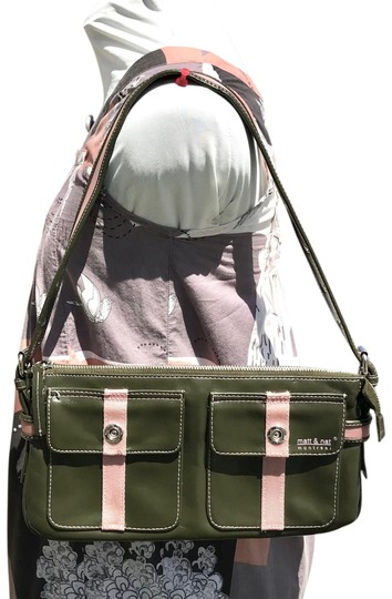 Preload https://img-static.tradesy.com/item/23938835/matt-and-nat-army-green-vegan-leather-shoulder-bag-0-1-540-540.jpg