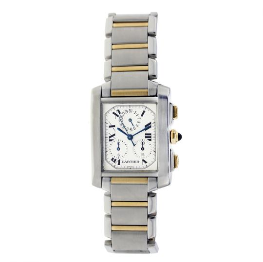 Preload https://img-static.tradesy.com/item/23938869/cartier-two-tone-francaise-chronoflex-ss-and-gold-29mm-watch-0-0-540-540.jpg