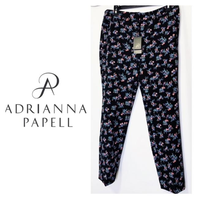 Preload https://img-static.tradesy.com/item/23938912/adrianna-papell-black-floral-printed-kate-fitted-bi-stretch-pants-size-10-m-31-0-0-650-650.jpg