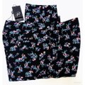 Adrianna Papell Pockets Leg Fitted Floral Print Stretch Weave Straight Pants Black Image 5