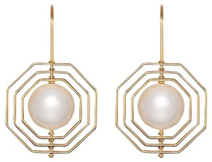 Tory Burch TORY BURCH PEARL DROP EARRINGS GEO NWT NEW TAGS DUST BAG