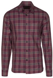 Alexander McQueen Button Down Shirt burgundy