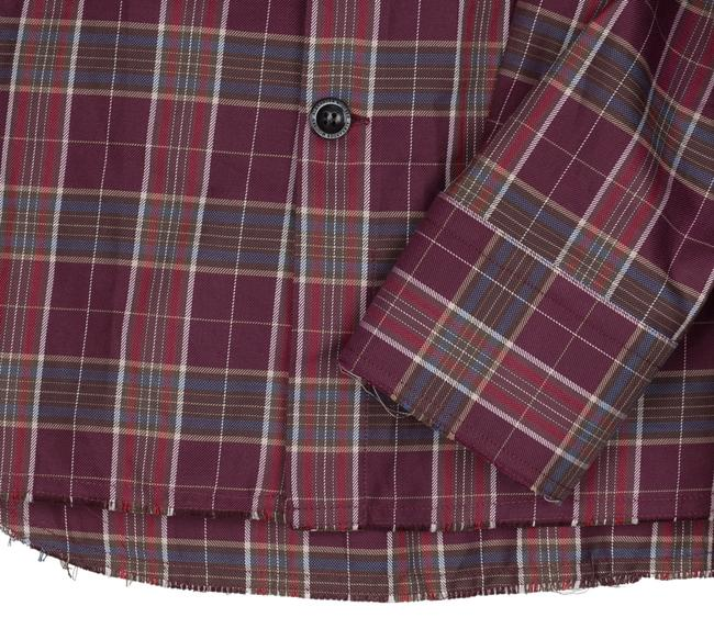 Alexander McQueen Button Down Shirt burgundy Image 3