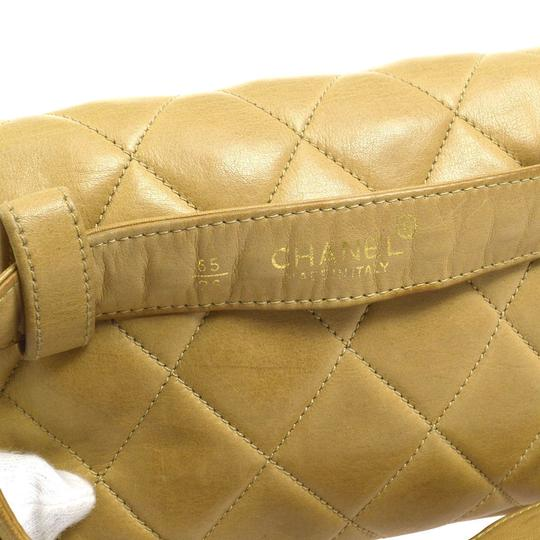 Chanel Leather Limited Edition Vintage Quilted European beige Clutch Image 10