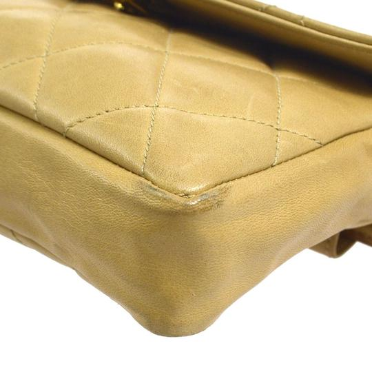 Chanel Leather Limited Edition Vintage Quilted European beige Clutch Image 11
