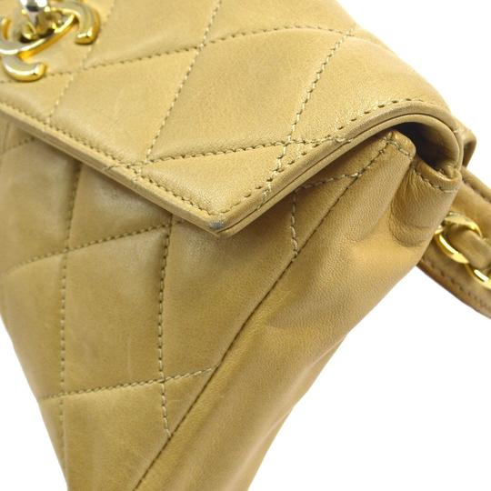 Chanel Leather Limited Edition Vintage Quilted European beige Clutch Image 4