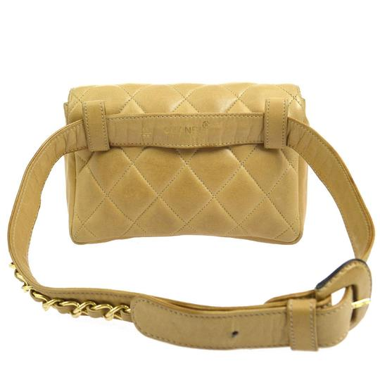 Chanel Leather Limited Edition Vintage Quilted European beige Clutch Image 5