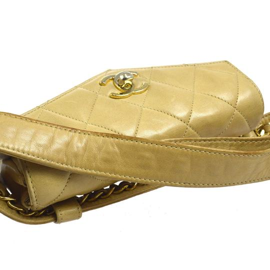 Chanel Leather Limited Edition Vintage Quilted European beige Clutch Image 7