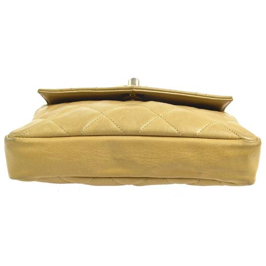 Chanel Leather Limited Edition Vintage Quilted European beige Clutch Image 9