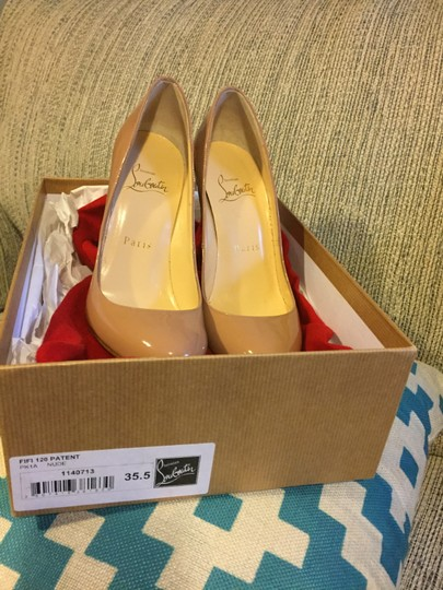 Christian Louboutin Classic Evening Patent Leather nude, beige Pumps Image 1