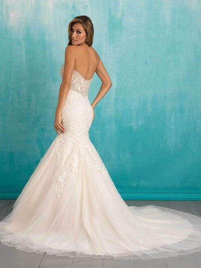 Allure Bridals Ivory Lace Organza Ab9305 Feminine Wedding Dress Size 10 (M) Image 8