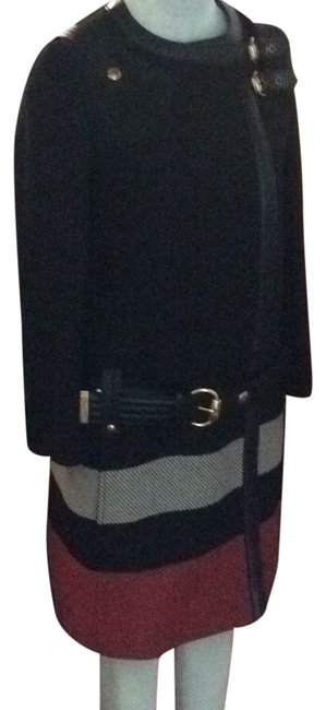 Item - Black / Ivory / Red Wool Coat Size 4 (S)