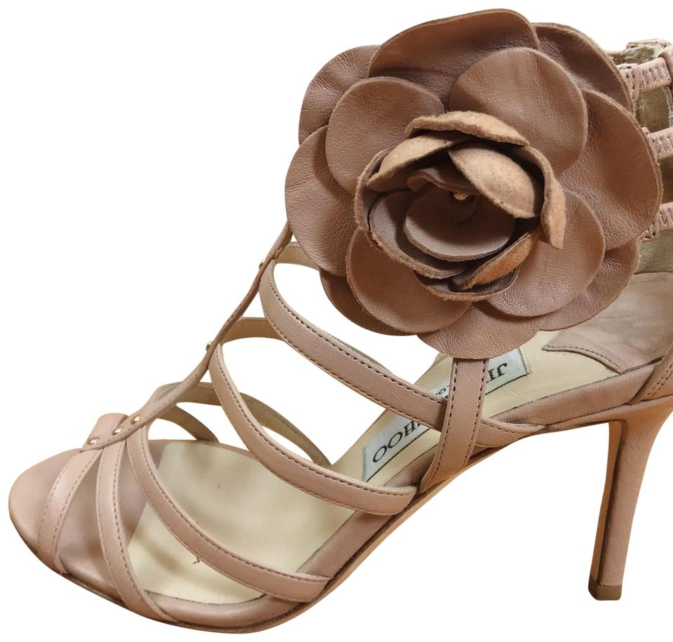 e3f2f1aac1d Jimmy Choo Wedding Lovely Rose Leather nude beige Sandals Image 0 ...