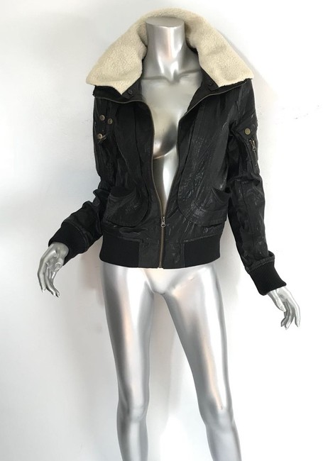 W118 by Walter Baker black Leather Jacket Image 1