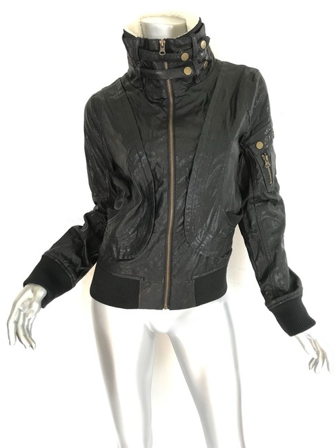 W118 by Walter Baker black Leather Jacket Image 2