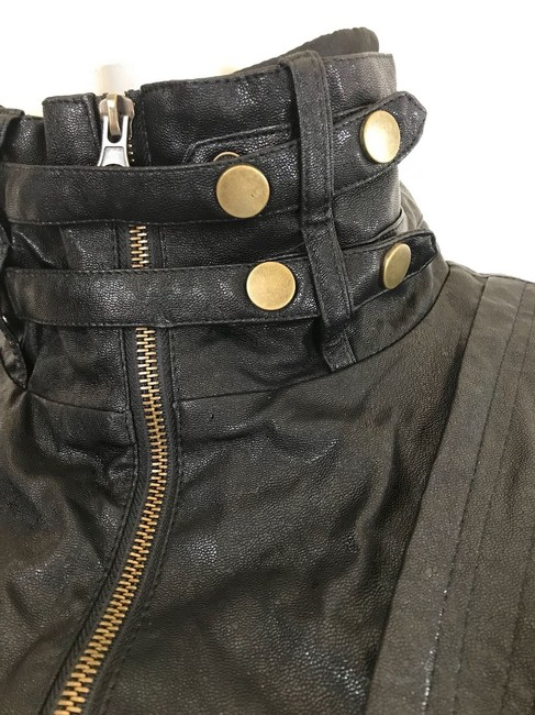 W118 by Walter Baker black Leather Jacket Image 4