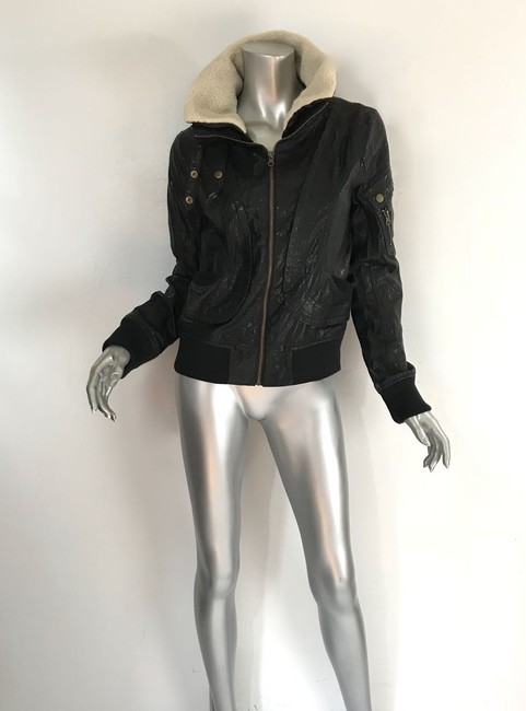 W118 by Walter Baker black Leather Jacket Image 7