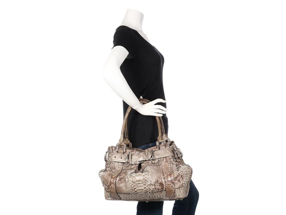 d9ccbd18e4 Burberry Large Woven Beaton Brown Python Skin Leather Satchel - Tradesy