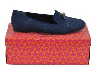 Tory Burch Loafers Slip On 8.5 Navy Combo/ Bright Navy Flats