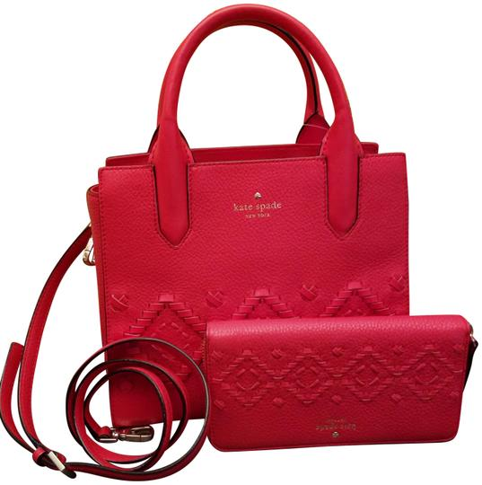 Preload https://img-static.tradesy.com/item/23939612/kate-spade-meriwether-flynn-street-handbag-and-neda-wallet-set-red-orange-leather-tote-0-1-540-540.jpg
