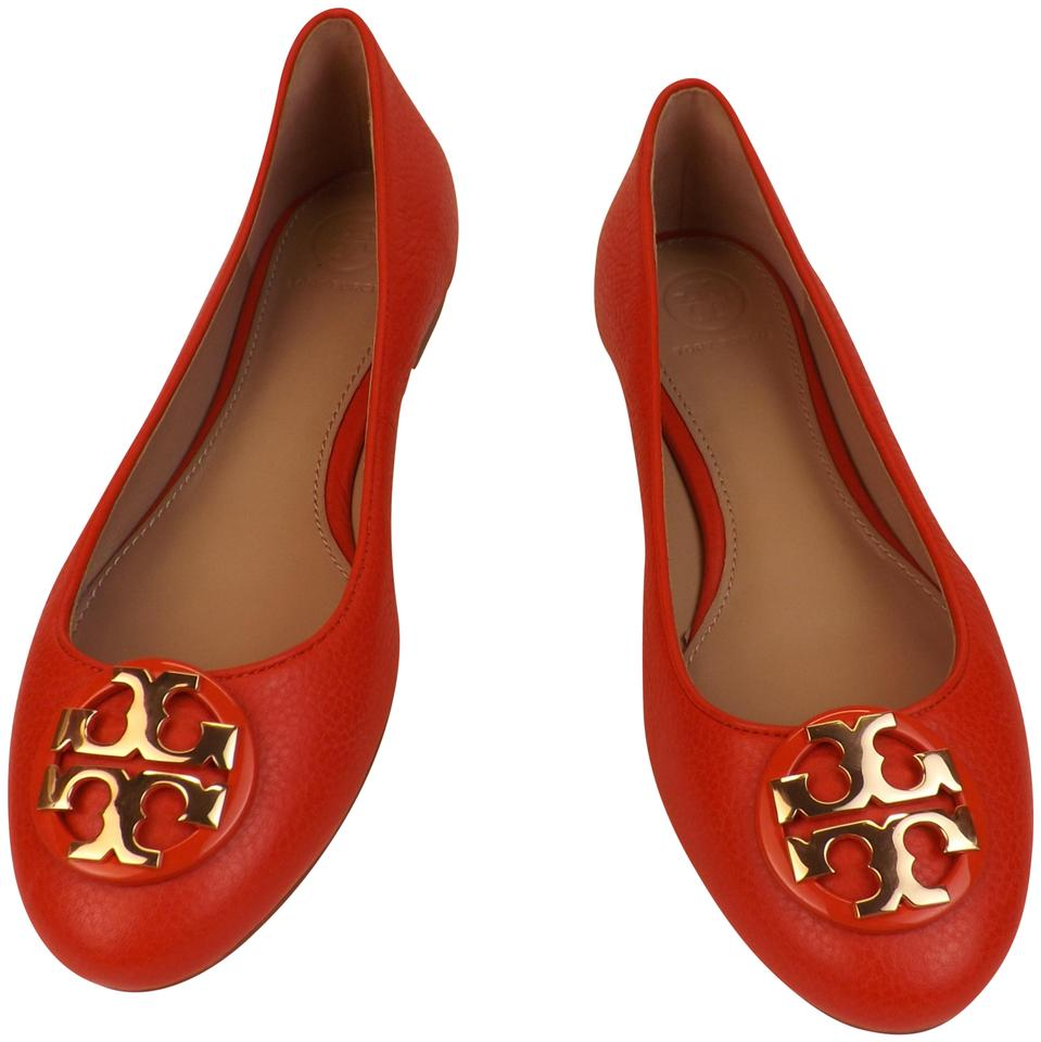 5d4c128b394 Tory Burch Red Samba Red Samba Gold Claire Tumbled Leather Gold Tone ...