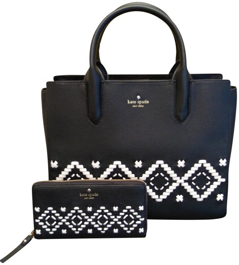 Preload https://img-static.tradesy.com/item/23939688/kate-spade-meriwether-flynn-street-handbag-and-neda-wallet-set-black-leather-tote-0-1-540-540.jpg