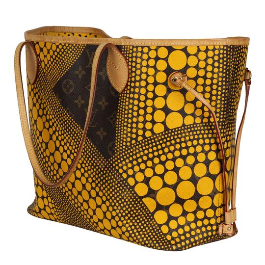 Louis Vuitton Neverfull Kusama Monogram Limited Edition Classic Tote in Brown Image 6