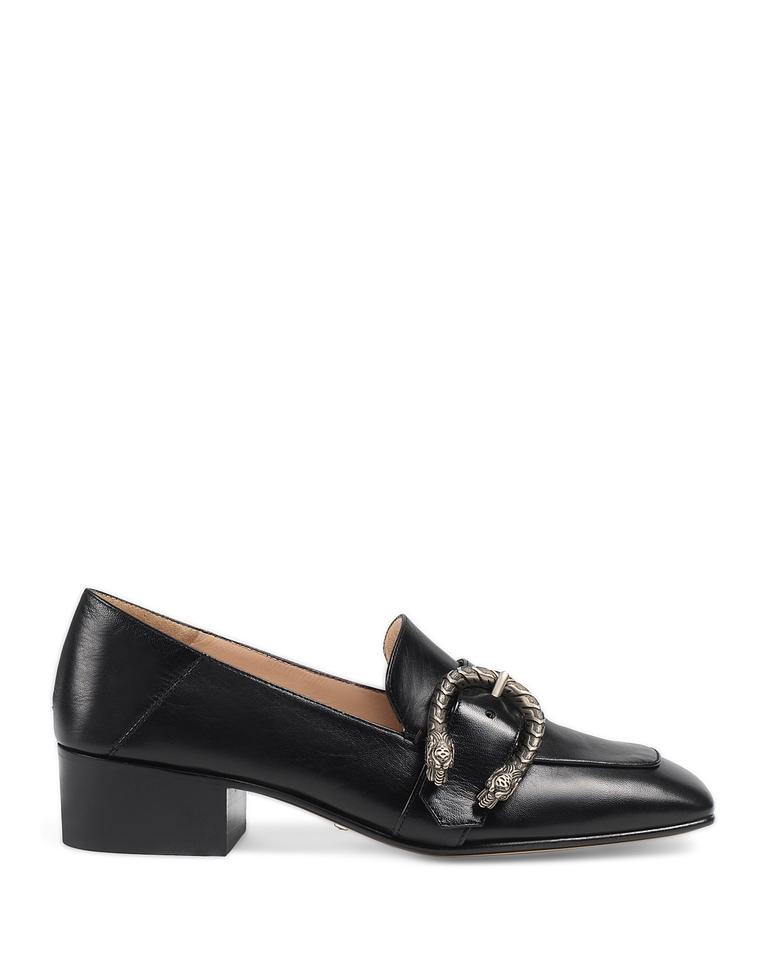 9392d3267edf5 Gucci Black Dionysus Women's Leather 35mm Loafer Pumps Size US 9.5 Regular  (M, B)