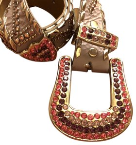 Kippys Kippys Swarovski crystal leather belt.