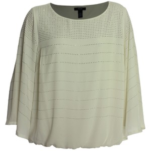 Alfani 18w Plus Size 2x Studded Top Ivory