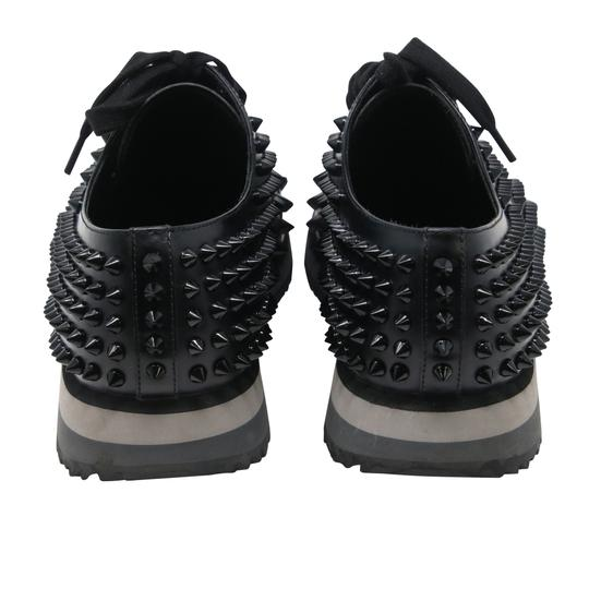 Prada Black Luna Parda Cup Rossa Studded Derby Leather Casual Size Us 9.5 Shoes Image 7